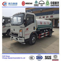 Howo 5 cbm dongfeng 140 water truck