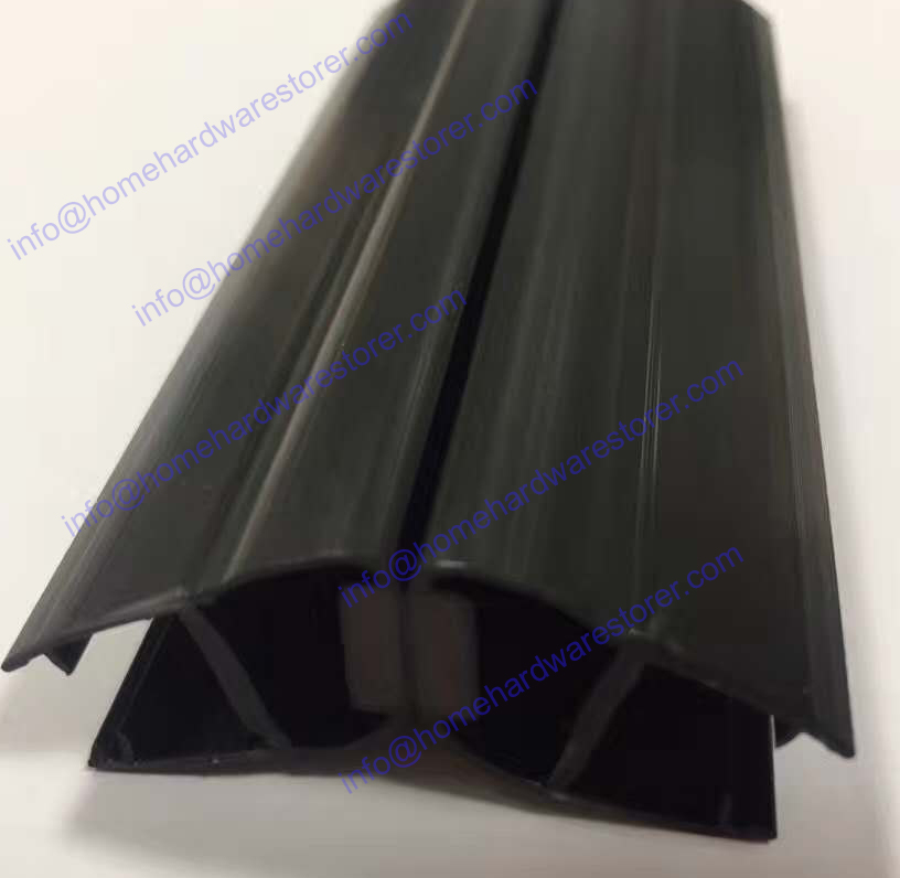 Black color waterproof pvc seal for bathroom shower room