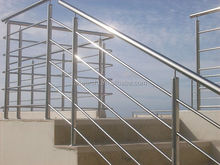 Cheap price outdoor stairs stainless steel railings with polish / satin solid rod balustrade