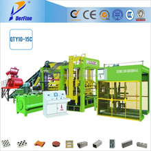 QTY10-15C automatic high yield brick making machine / lightweight concrete brick producer / manufacturing plants for sale