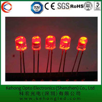 5mm round red LED diode with common cathode