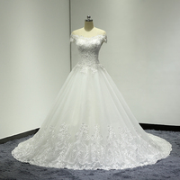 Off Shoulder Beaded Lace A Line 2018 New Designer Princess Wedding Gowns Real Photo High Quality Best Sales Bridal Dresses