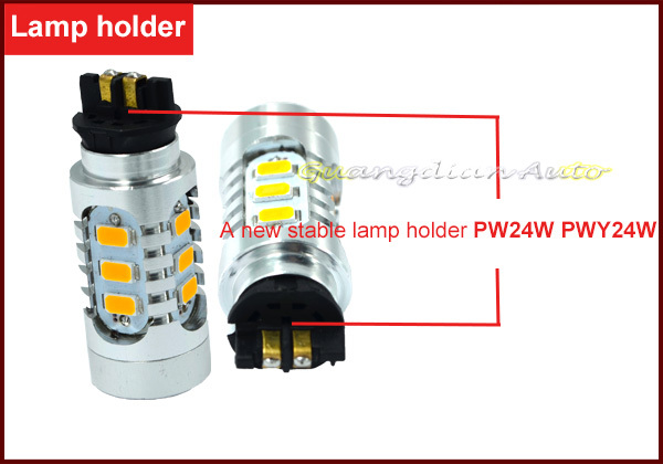 Brilliant marcket Xenon White PW24W PWY24W 5730 15smd LED Bulbs Turn Signal or DRL Lights