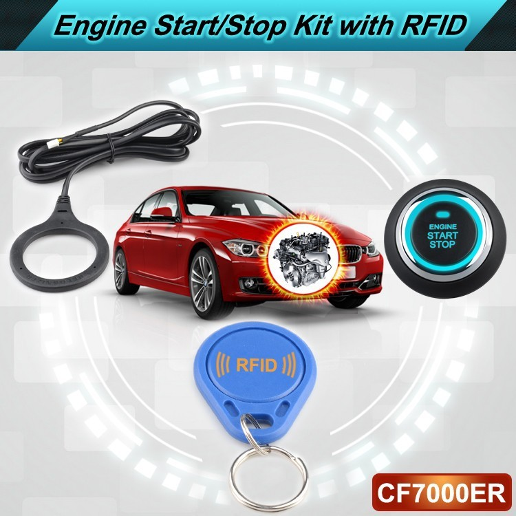 Vehicle Push Start Button with RFID Engine Lock Ignition and Immobilizer