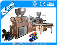 Full-auto rotary type three color-mix plastic-rubber/PCU shoes injection moulding machine