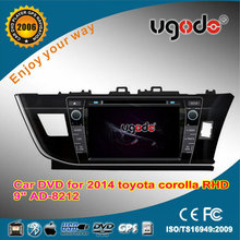 ugode Car radio DVD GPS navigation player 2015 Toyota Corolla Auris right left hand