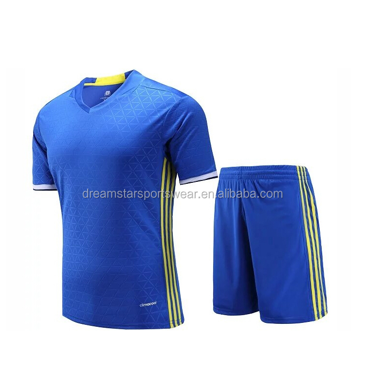 150gsm polyester Newest Embroidered Soccer Training Jersey