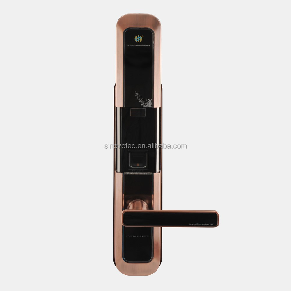 2016 hot sale touch screen stainless steel digital door lock handle fingerprint