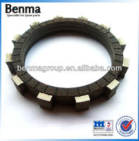 Carbon fiber rubber material clutch plate with high performance