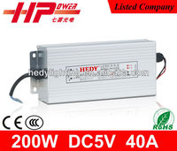 200w 5v 40a android tablet power supply with CE RoHS, factory