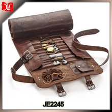 vegetable tanned leather screwdrivers leather rolling tool bag