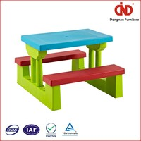 hotsale plastic 100% test trade assurance childrens plastic table and chairs