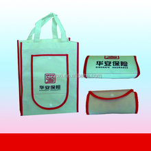 Convenient non woven foldable tote bag with snap closure