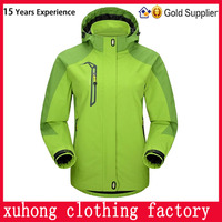 Custom high quality 100% polyester soft shell jacket for women 2014