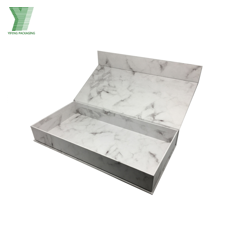 Luxury Custom Made Book Shape Premium Marbling Printing Gift Box