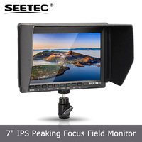"7""slim ips lcd monitor camera dslr for broadcasting hdmi input peaking focus assist resolution 1280x800"