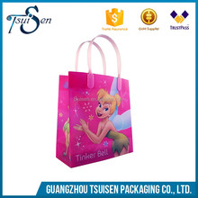 Custom Made Clear Plastic PP Bag With Cartoon Character,Gift Bags Packaging Bags With Plastic Handles