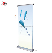 moving roll up banner stand exhibition show retractable banner stands, roll up stand banner
