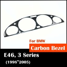 Free shipping for BMW E46 3 series 1998 2005 Instrument gauge cluster bezel cover carbon Fiber