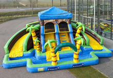 Happy hop Hot Sale Inflatable Water Slide and Pool with Water Slide Park