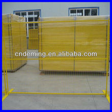 High quality galvanized temporary fence with platic model base and steel base (DM factory)