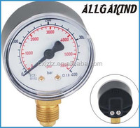 Y50A3 CNG Pressure Gauge In High pressure 400bar manometer