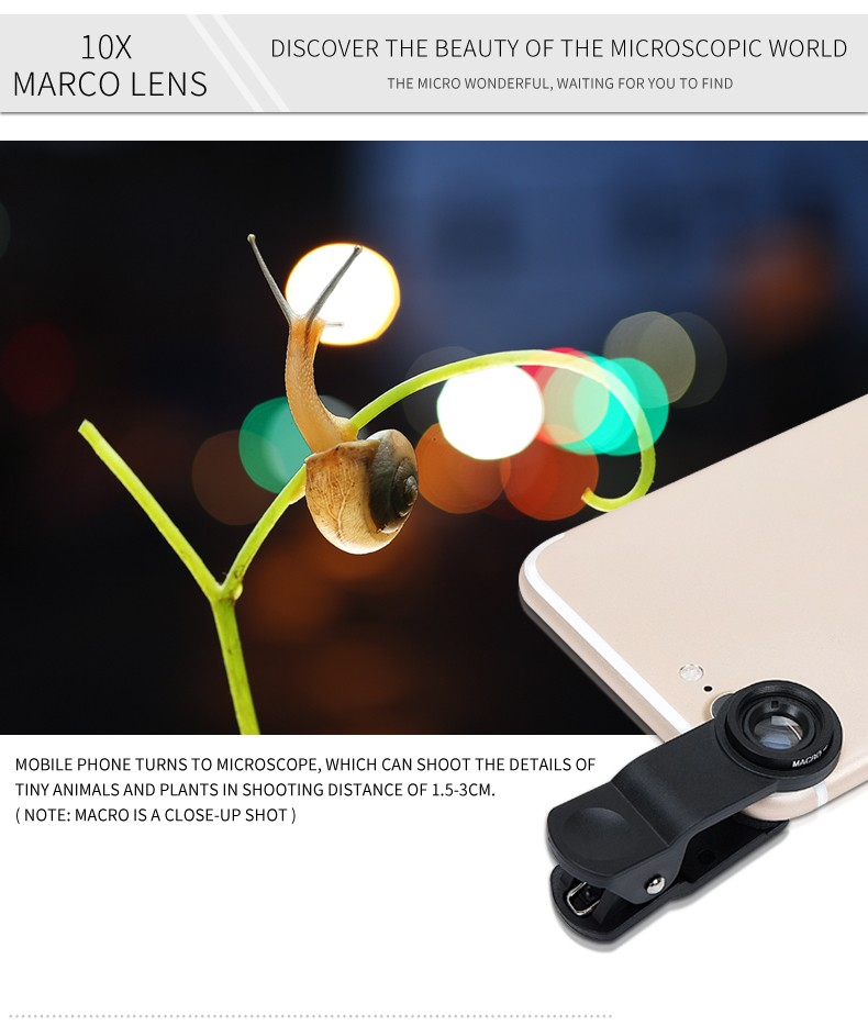 2017 Smart phone camera 3 in 1 lens 0.67x wide angle macro lens
