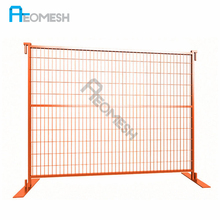 Galvanized removable pvc coated canada temporary fencing