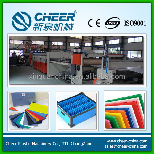 PP hollow sheet extrusion machine supplier