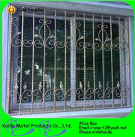 manufacture wrought iron interior security window grill for wholesale