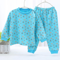 Boy Blue Complete Clothes Warmth Long Sleeves Baby Suit Toddler Clothes Set