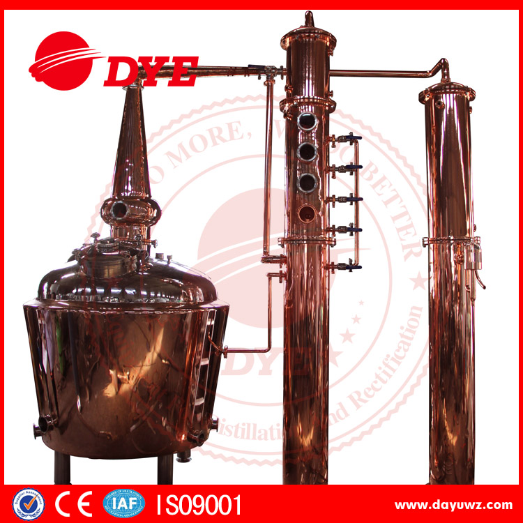 Red Copper industrial fractional distillation column price
