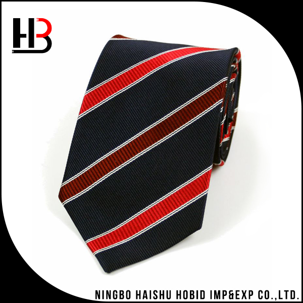 Striped mens ties silk tie factory