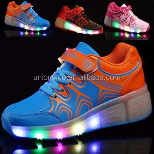 factory price hot sale fashion charge able led light wheel shoes