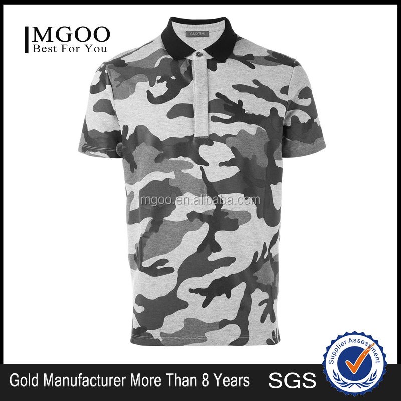 Custom Design Men Camouflage Polo Shirt 100 Cotton Full Print Polo American Size Silm Fit Style Male Polo