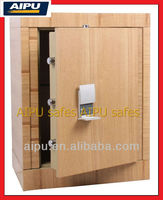 Wooden finish luxury home safe box HS690-WE / fire proof / electronic lock .