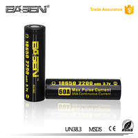 Reliable supplier of 18650 rechargeable li ion 3.7v battery 2200mah with CE,ROHS,UL certificates