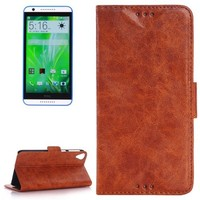 Oil Skin Texture Flip Leather Wallet Case for HTC Desire 820 with Card Slots