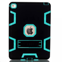 3 in 1 hybrid robot stand case for apple ipad air 2,for ipad 6 stand armor case