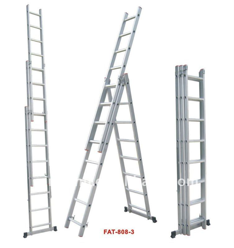 Aluminium Ladder ,Aluminum three section extension ladder.