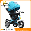 Easy Portable and Storage Baby Bicycle 3 Wheels Plastic Tricycle Kids Pedal Bike / Trike with Push Handle