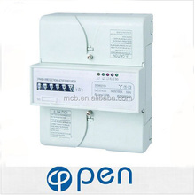 digital power electric meter din rail power meter electrical energy meter 3 phase 4 wire energy meter connection
