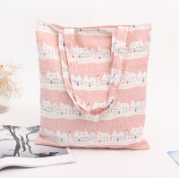 TT0075-1 Reshine New design Full Printing Folding Linen shopping bag