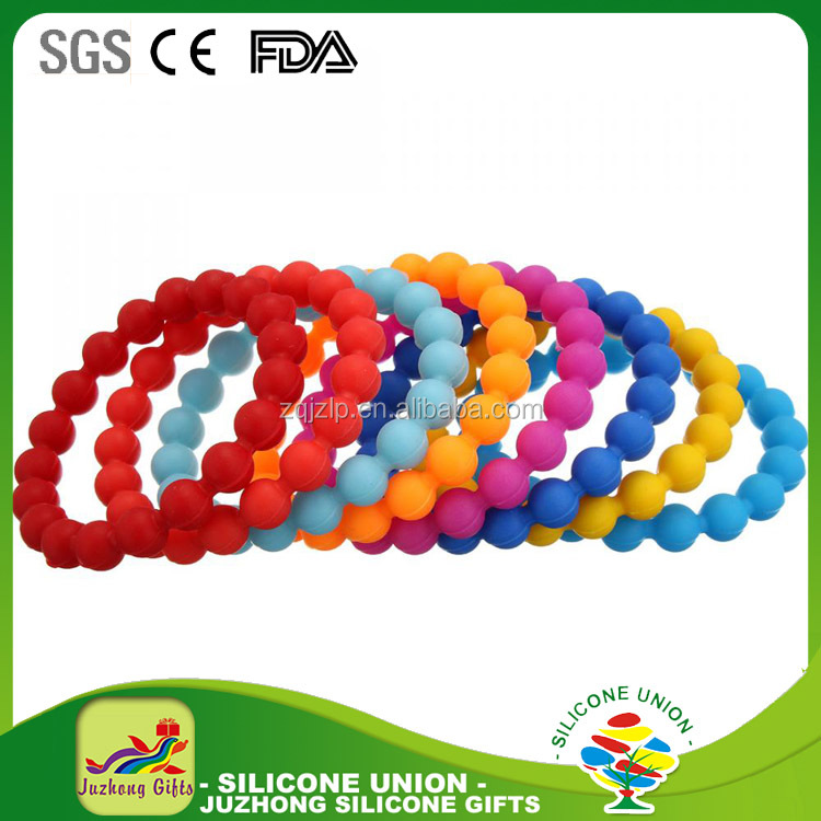 heap Price Wholesale Silicon Bracelet, custom silicone bead bracelet