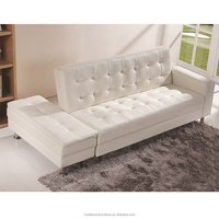 Couch living room metal frame leather l shape corner sofa with ottoman