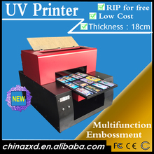 3D embossed effect plastic/acrylic newest card printing machine price