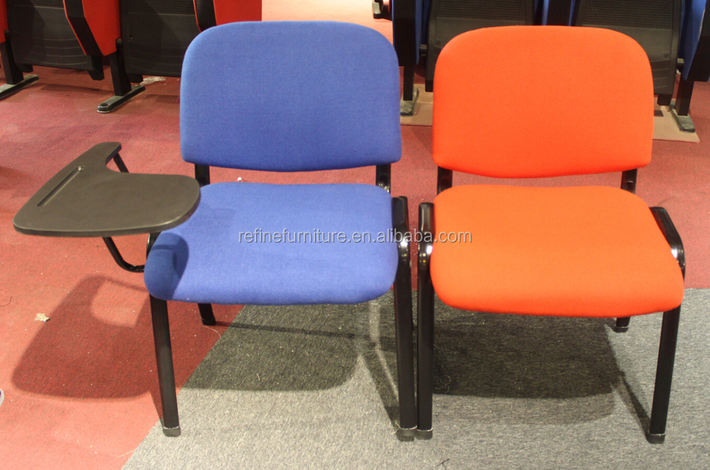 Popular Blue Fabric Stacking Church Chair With Arms Rf