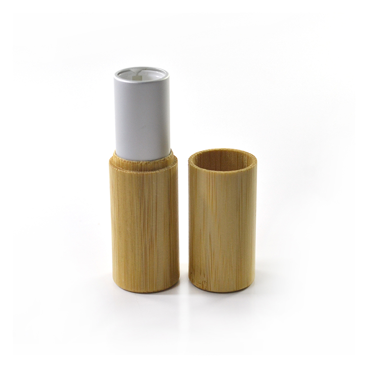 Natural food grade cosmetic lip balm container 3ml 5ml bamboo lipstick <strong>tube</strong>
