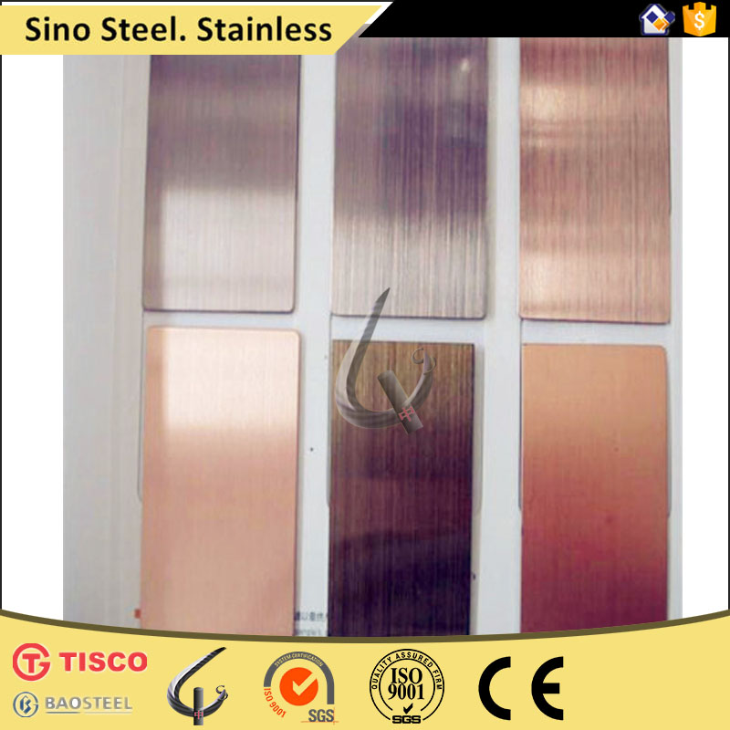 inox 304 stainless steel sheet of No.4 Hairline surface