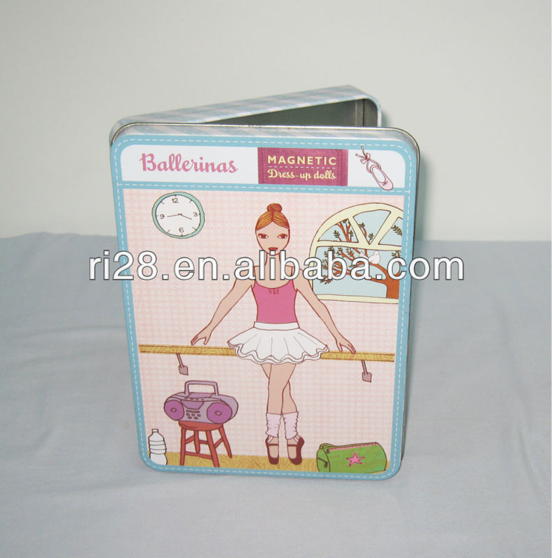 Kids puzzle tin case